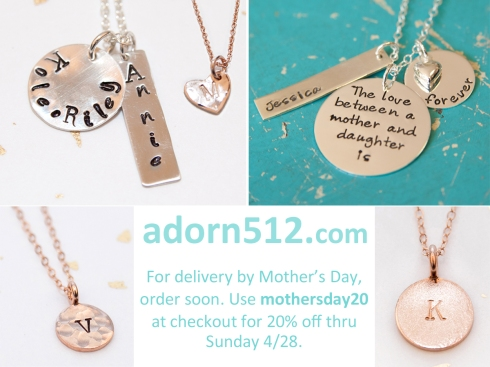 Order Now for Delivery by Mother's Day and Get 20% Off!